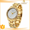 Promotion gift watch brand gold watch stainless steel back