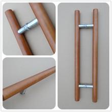 factory supply wood door pull handle, glass door handles wood,classical wood door handle RB-3001W