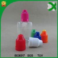 30ml pet eye drops container for ejuice with childproof cap