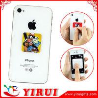 Microfiber screen clean sticker for mobile phone