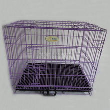 2015 hot sale purple metal dog cage cheap dog crates