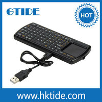 universal pocket mini touchpad wireless keyboard for android tv box with usb port