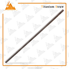 Outdoor Drinking Sucker Straw Titanium