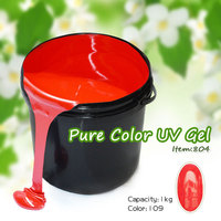 #804W gel colored nail manufacturer 1kg uv color gel materials used in manicure