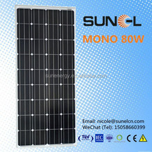 MONO DC 12V 80W solar panels factory made in China