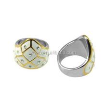 Trending design lucite ring gay men ring