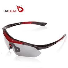 New Arrival Baleaf Brand Cycling Sports Sunglasses Motorcycle Riding Glasses Black+red Frame Four Lens Attach Top Quality