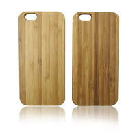 New Arrival High Quality Hybrid PC& Wood Bamboo Back Skin Cover Cases For iPhone 6/6 Plus,Wood Phone Cover Case