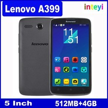 2015 New Original Lenovo A399 Mobile Phone 5 inch MTK6582 Quad Core 1.3GHz Android 4.4 Wifi 3G WCDMA Dual SIM Smart Phone
