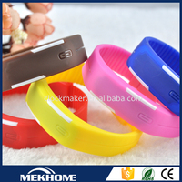 hot custom logo Silicone Digital LED Sports Bracelet Wrist Watch for man and woman