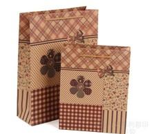 China custom manufacture handmade printed brown kraft paper bag