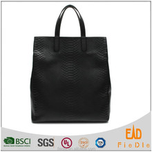 CSS1354-001-2015 latest timeless snake pattern casual genuine leather tote bag ladies handbag
