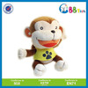 ICTI high funny quality plush toys for sales.Big mouth little monkey