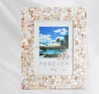sea shell mosaic photo frame