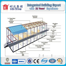Tourist park labor accommodation camp/granny flats/20ft container house CE