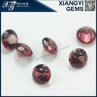 made in china round shape natural garnet semi precious gemstones wholesale