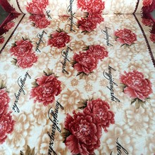 flowers or custom patterns flannel sheet coral blanket Chinese supplier