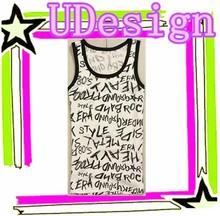 All over print vests wholesale high quality plain cotton vests