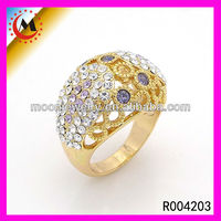 2015 HIGH END JEWELRY DISPLAYS WHOLESALE CHEAP JEWELRY RING REAL GOLD PLATED JEWELRY