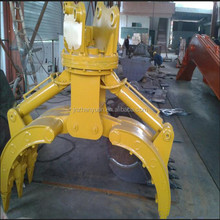 Hydraulic type wood grapple grab used for wheel loader excavator