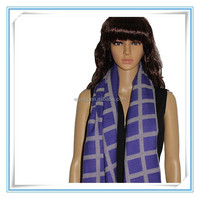 Puerple luxury acrylic check names of scarf