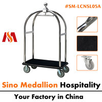 Hotel Stainless Steel Luggage Cart Trolley
