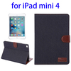 In Stock Denim Texture sleep function Leather tablet cover for ipad mini 4