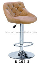 Coffee color fabric seat with crastal button bar stools,stool bar,bar chair furniture