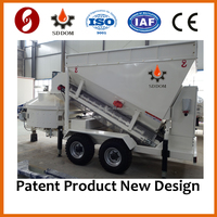 Low cost dry ready mixed mini mobile concrete mixing batch plant