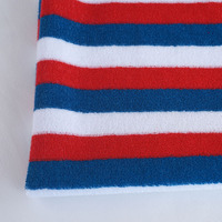polyester cotton fiber striped laced terry cloth fabric with TPU laminated