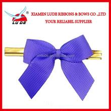 wholesale custom satin/grosgrain pre-tied ribbon bow