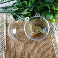 Wholesale christmas decorations clear Fillable Ornament Plastic Ball
