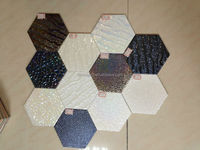 The Latest Technology Nice Shinning Surface Hexagonal Ceramic Tile For Wall