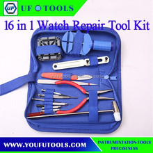 Manufacture 16 pcs Watches Remover Repair Opening Tools Kit Set Bag Package , Cheap Watches Remover Tool Kit