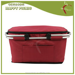 canvas insulated lining tote picnic cooler bag