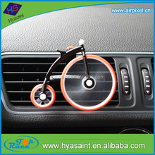 Manufacture price aroma bicycle shape car vent clips air freshener
