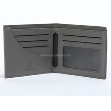 Promotional fashion genuine leather men's wallet