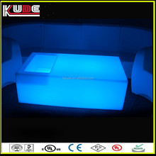 Lighting Furniture LED Light Up Low Height Coffee Table For Living Room