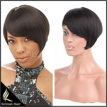 Glueless Short Straight Brazilian Virgin Full Lace Human Hair Wigs None Lace Wigs Natural Color Lace Front Wigs For Black Women
