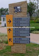 Outdoor directory pylon sign