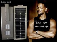 20 watt Sunpower high efficiency panel integrated solar street light solar garden lamp 3 years warranty waterproof