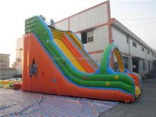 fresh inflatable slide, ZY-DS649 top grade blue ocean inflatable slide