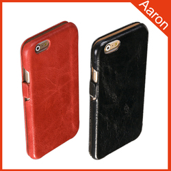 hot sell ultra-thin genuine leather flip case for iphone 6
