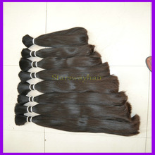 wholesale 100% remy raw unprocessed malaysian remy human hair bulk , virgin indian remy hair for cheap