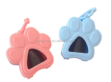 Portable paw shape dog trash bag dispenser in different color