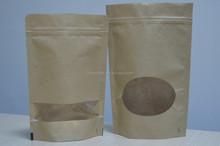 stand up paper bags zipper and window 150 gram