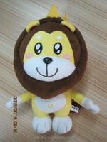 Plush lion .soft stuffed lion toy.cartoon plush lion with crown