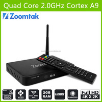 Hottest amlogic s802 t8 quad core android smart tv box support 3D 4K dual wifi streaming you pron