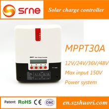 Mppt aplicación y normal especificación regulador solar 30a para el hogar el uso del sistema