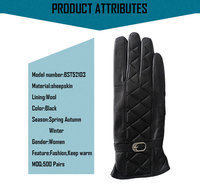 Wholesale cheap women leather gloves,leather fashion gloves